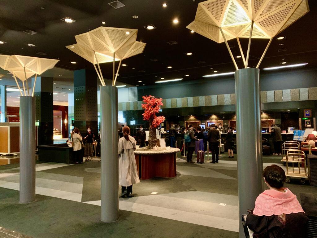 ホテルグランヴィア京都のフロントロビー
