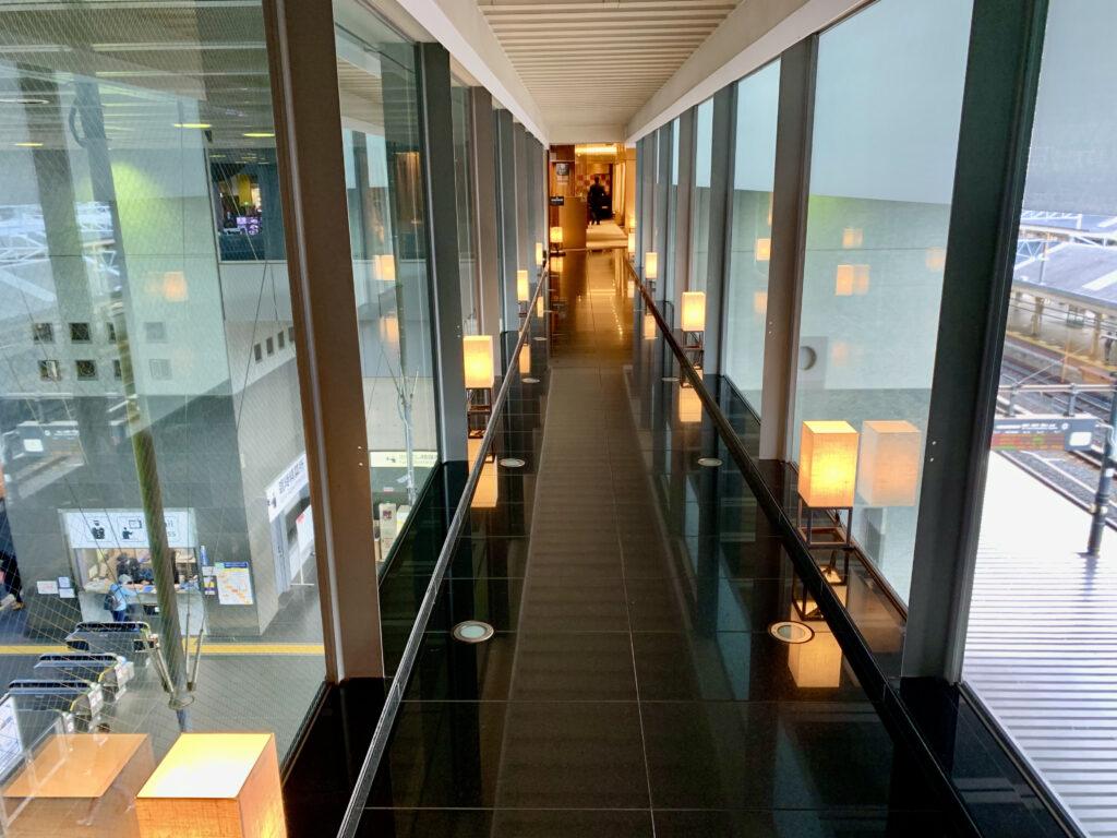 グランヴィア京都の空中回廊