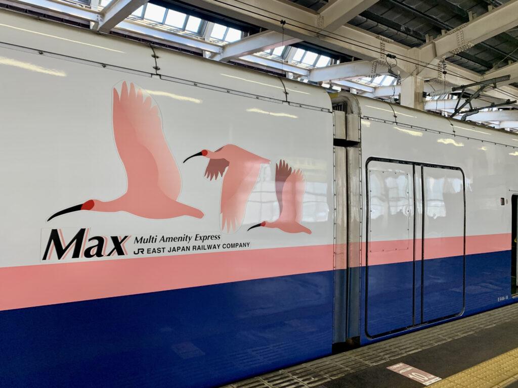 東京駅に停車してるMaxたにがわ越後湯沢行き