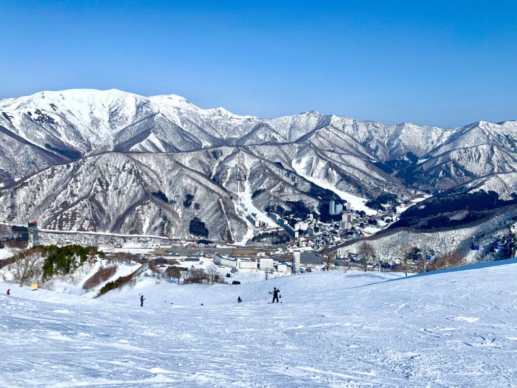 筍山スカイラインコースを滑る