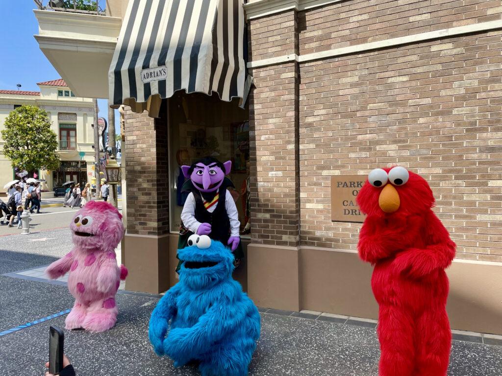 セサミストリートのキャラクターたち
